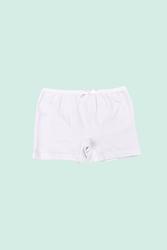 CEYLANOĞLU - 12' li Beyaz Likralı Kız Çoçuk Boxer