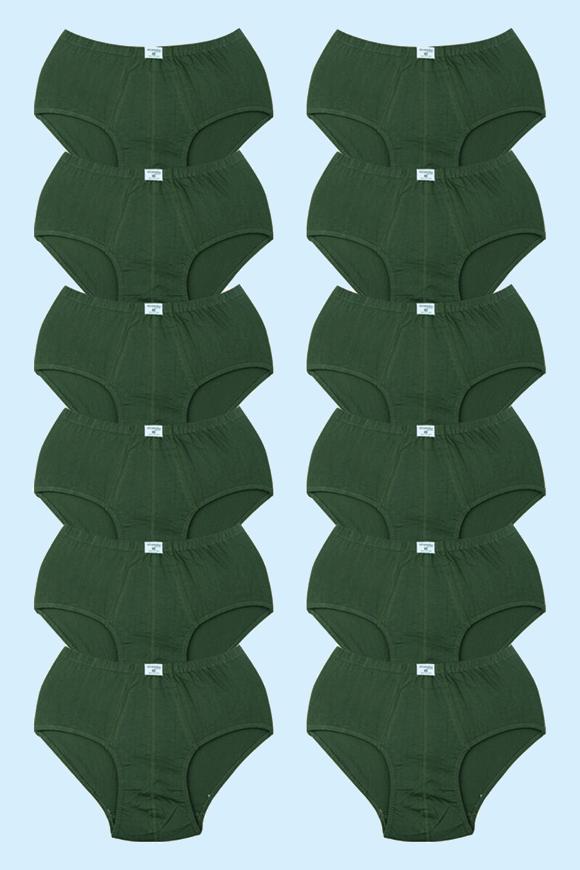 12' li Koyu Yeşil Süprerm Penye Erkek Kilot