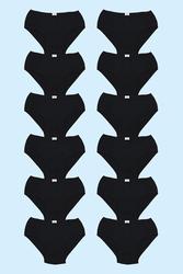 12' li Siyah Penye Süprem Erkek Kilot - Thumbnail