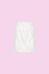 CEYLANOĞLU - 3'lü Beyaz Jarse Bayan Mini Jüpon