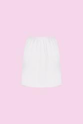 CEYLANOĞLU - 3'lü Beyaz Penye Bayan Mini Jüpon