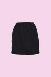 CEYLANOĞLU - 3'lü Siyah Jarse Bayan Mini Jüpon