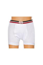 CEYLANOĞLU - 5'li Beyaz Likralı Erkek Çoçuk Boxer