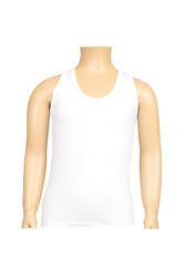 CEYLANOĞLU - 6'lı Beyaz Penye Süprem Erkek Çoçuk Atlet