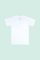 CEYLANOĞLU - 6'lı Beyaz Penye Süprem Erkek Çoçuk Fanila