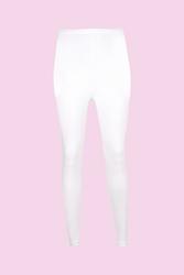 CEYLANOĞLU - 6'lı Beyaz Likralı Bayan Katlamalı Uzun Tayt
