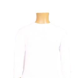 CEYLANOĞLU - 6'lı Beyaz Ribana Erkek Çoçuk Uzun Kol Sıfır Yaka Atlet