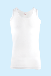 CEYLANOĞLU - 6'lı Ceysan Beyaz Erkek File Atlet