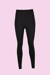 CEYLANOĞLU - 6'lı Siyah Likralı Bayan Katlamalı Uzun Tayt